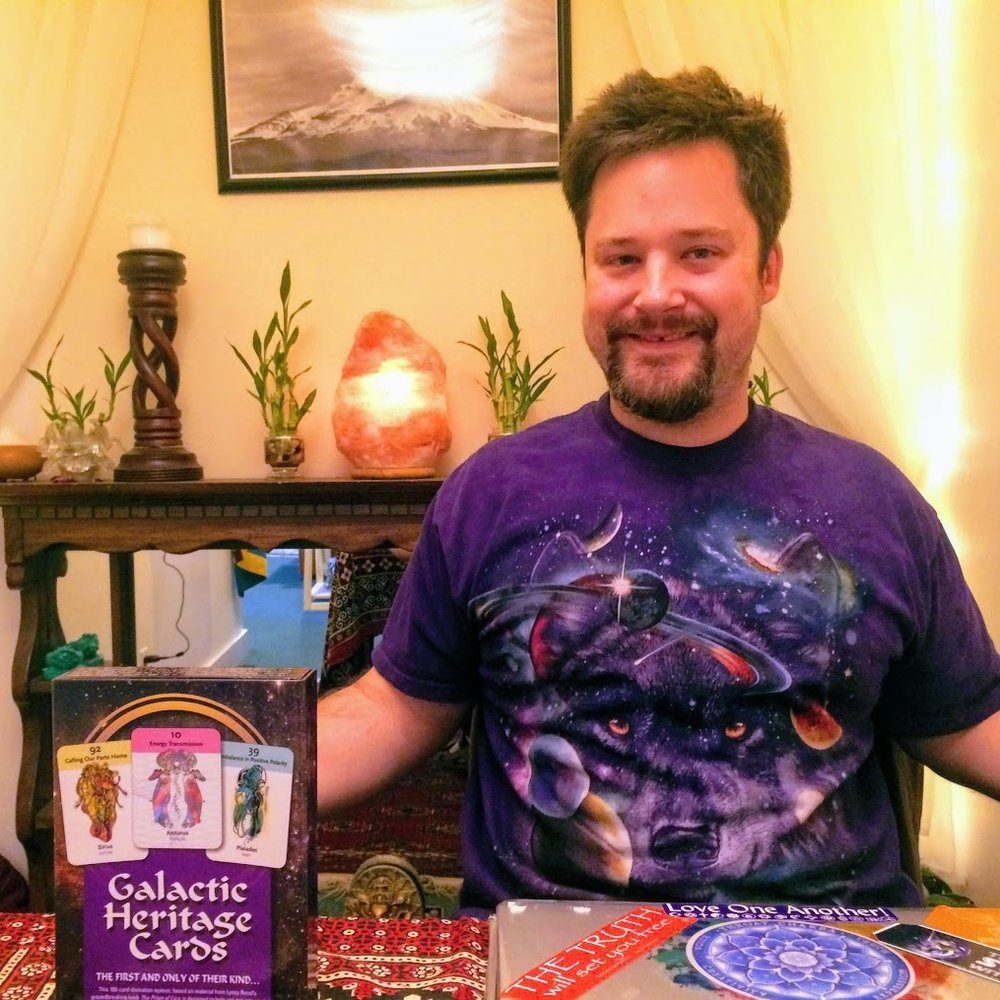 Galactic Heritage Star Ancestry Readings with Eric Adamo - Fridays 12pm-3pmEric offers clairvoyant communications with ancestral, angelic, elemental & celestial energies. His unique intuitive readings nurture wellness and personal transformation.Suggested Donation: $3 per minute