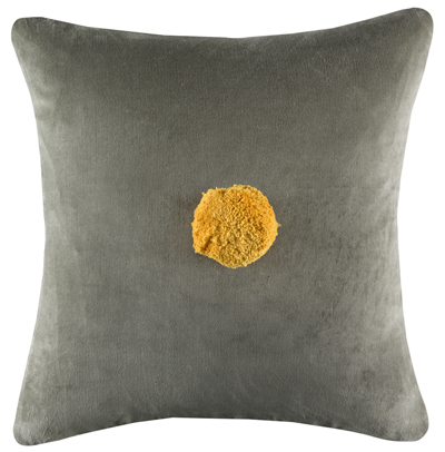 GREY VELVET CUSHION YELLOW POM SML.jpg