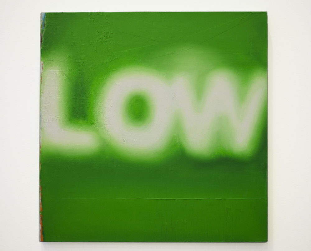 Low, 2015, oil on canvas, 40 x 40.