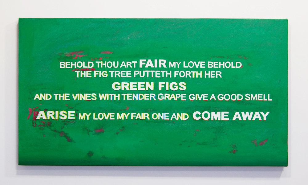 Porno   Oil on canvas  24 x 52 inches  2010
