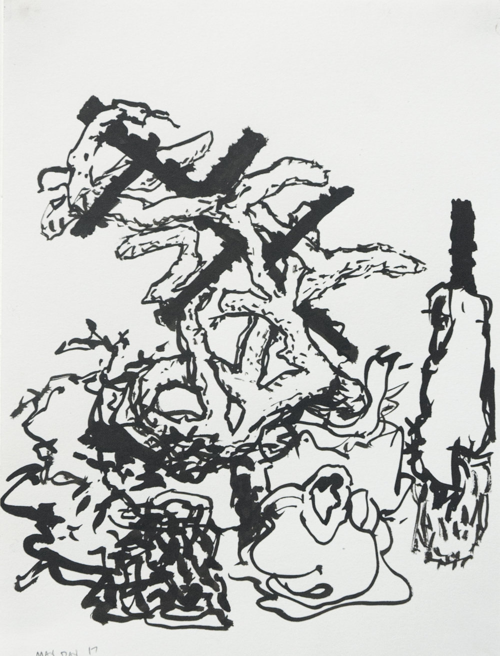 May Day   Sumi ink on paper