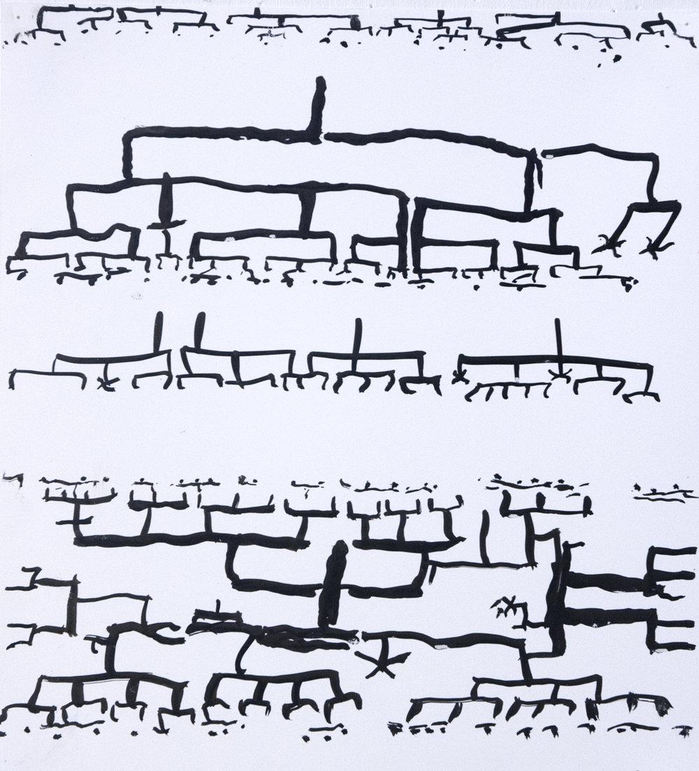 Spooks II   Sumi ink on paper