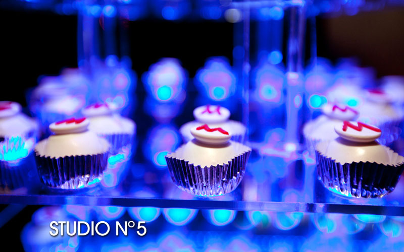 Cupcake bar for party.
