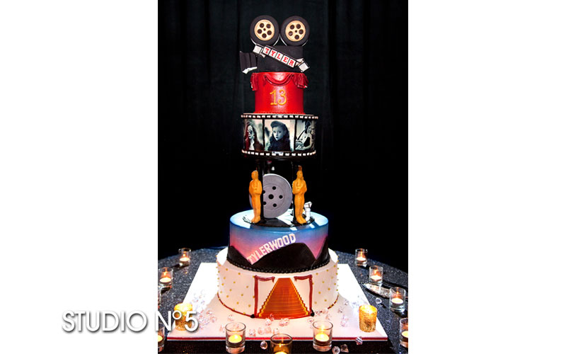 Hollywood-theme cake for Bat Mitzvah.