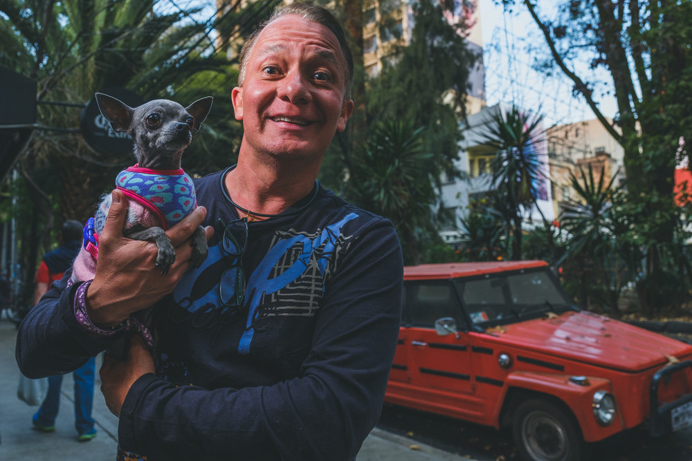 Speaking of the wonderful dog culture in CDMX, take a look at this pair. I love the similarities between this dog and owner found while wandering the streets. Mexico City // February 2018