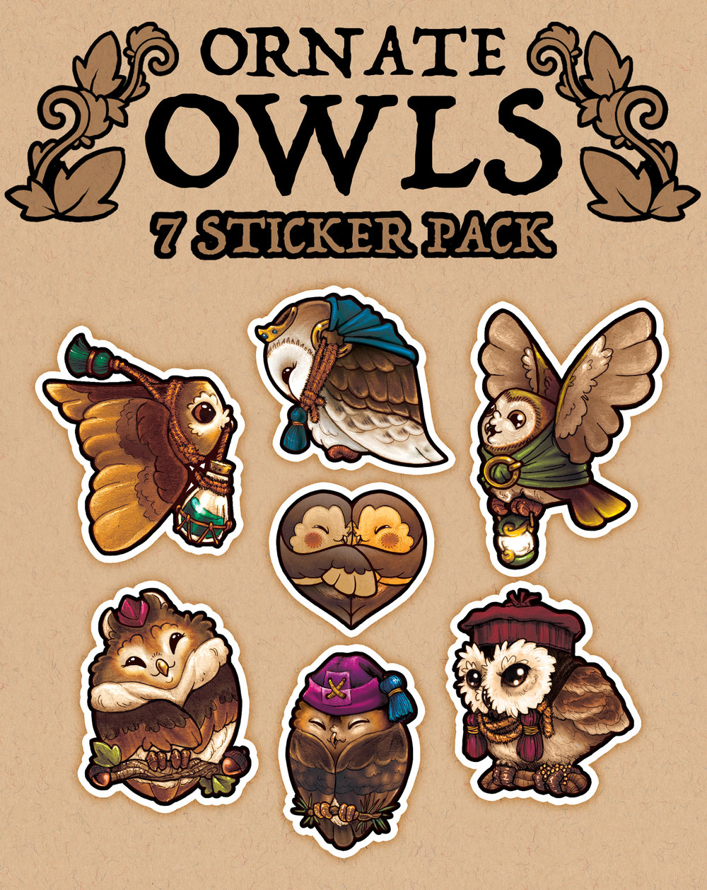 I sell original stickers in packages I made myself.