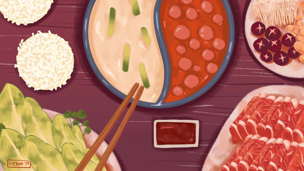 Hot Pot, Hot Pot game (independent project), Photoshop, 2017