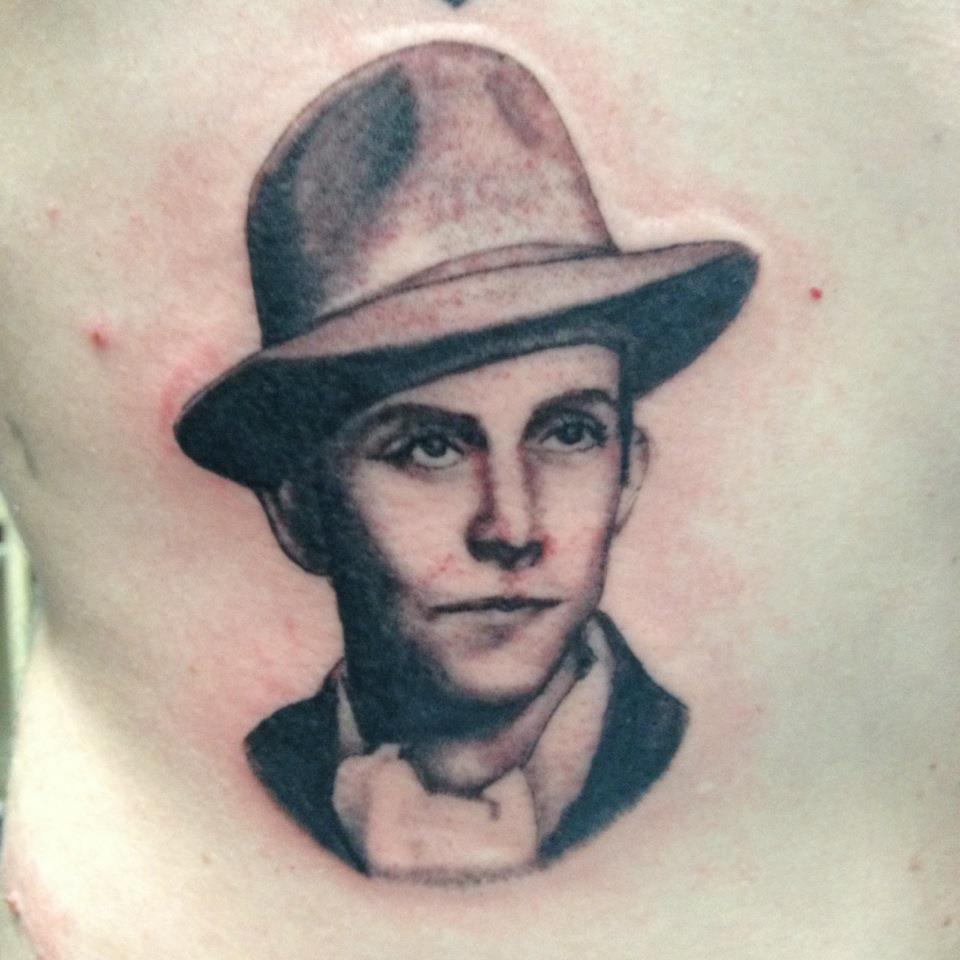 Ps. Just wanted to share this Hank Williams Sr. portrait I did on Sir Ian Price of the Burgandy Room of Hollywood, CA. Rambling Man.