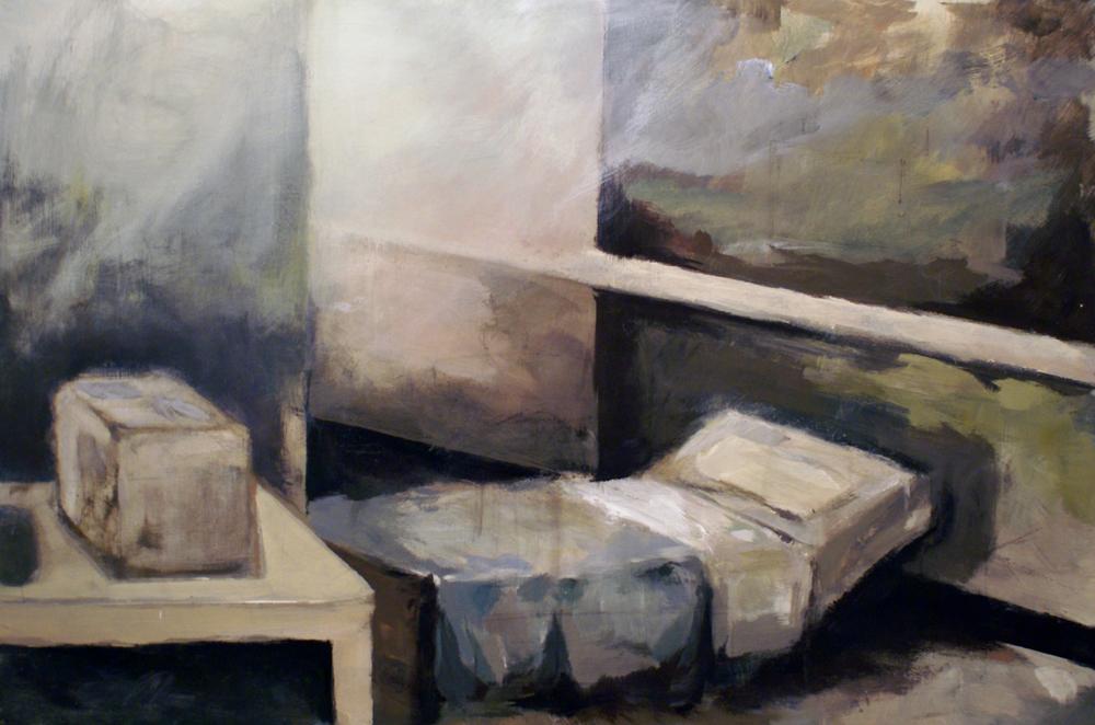 """""""Departure""""  acrylic on wood panel  32"""" x 48""""  2010"""