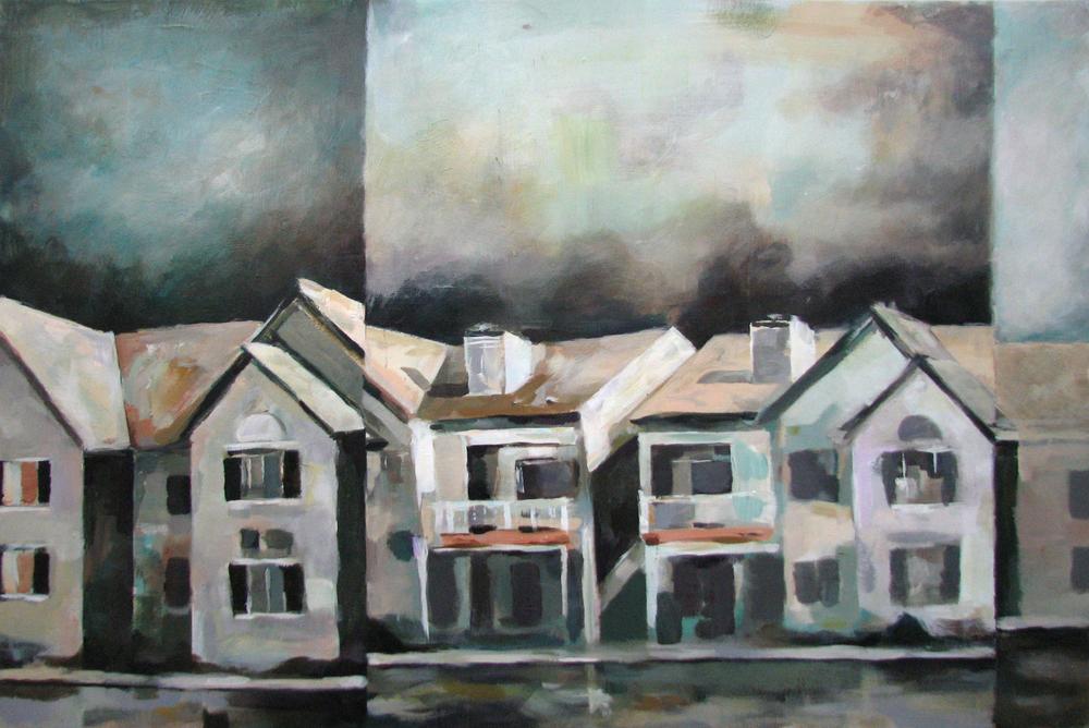 """Untitled""  acrylic on wood panel  32"" x 48""  2010"