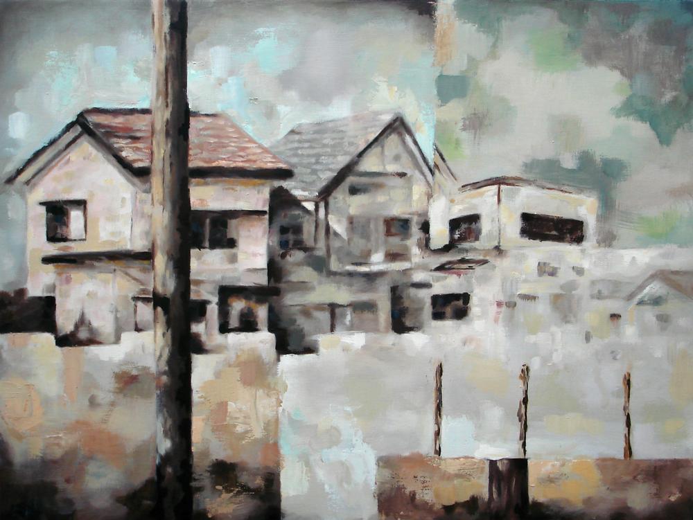 """Retrospect I""    oil on wood panel    24"" x 32""    2010"