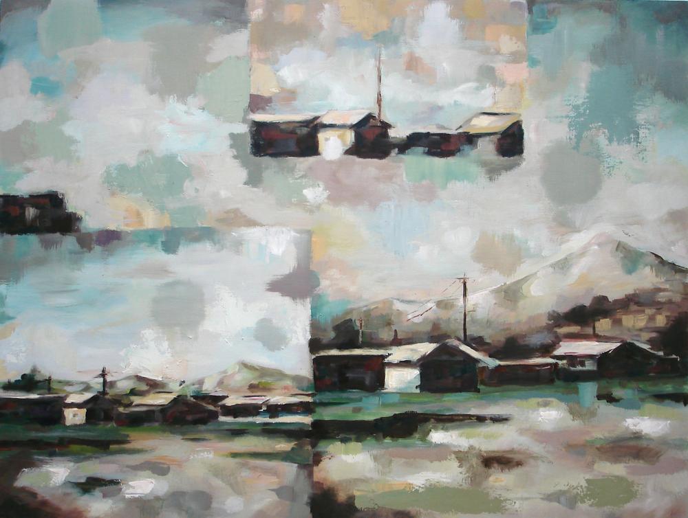"""""""Retrospect II""""    oil on wood panel    24"""" x 32""""    2010"""