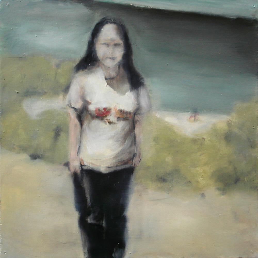 """A Familial Gaze XVII""  oil on wood panel  16"" x 16""  2010"