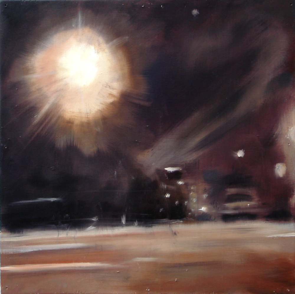 """A Familial Gaze VII""  oil on wood panel  16"" x 16""  2010"