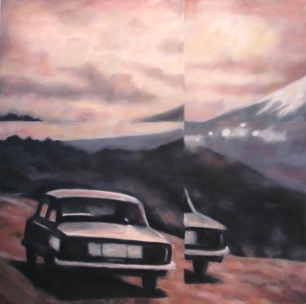 """Splice""  oil on wood panel  80"" x 80""  2010"