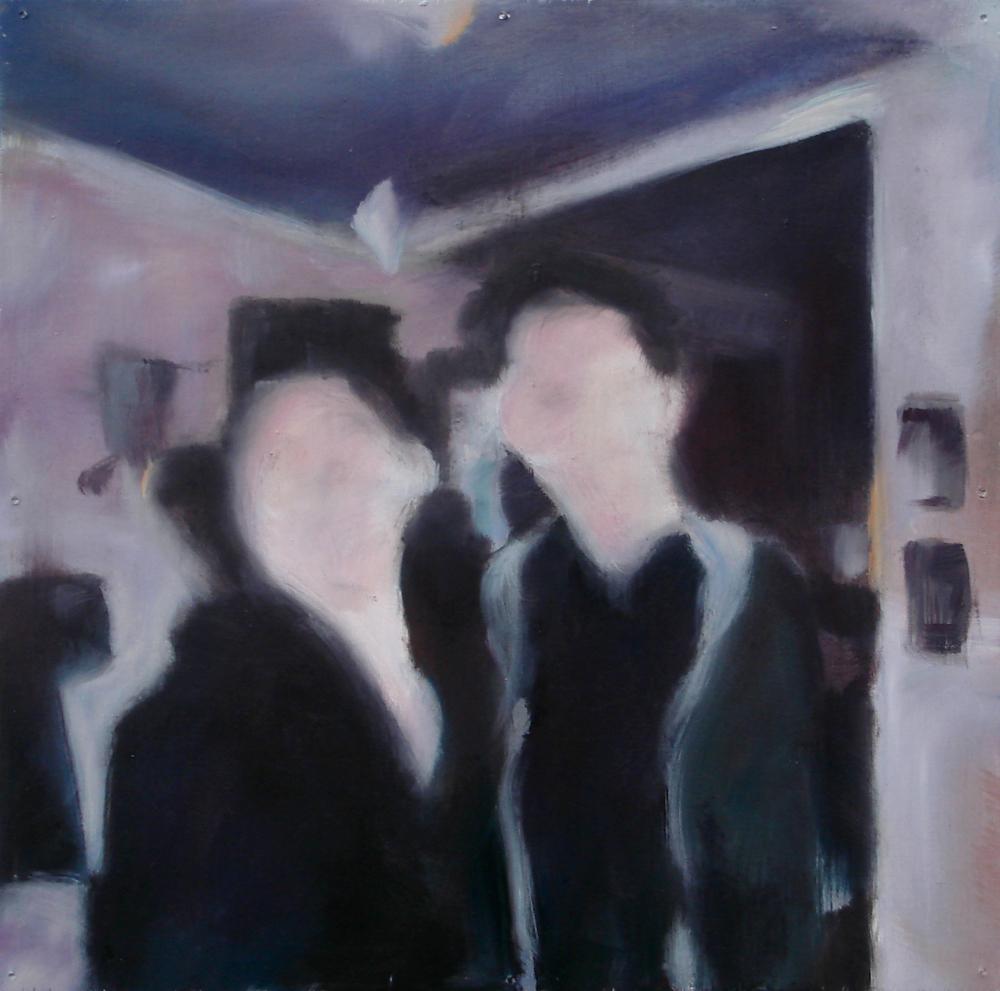 """A Familial Gaze XII""  oil on wood panel  16"" x 16""  2010"