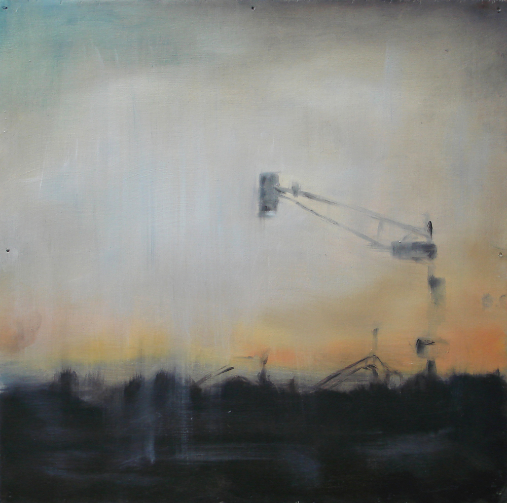 """A Familial Gaze XIII""  oil on wood panel  16"" x 16""  2010"