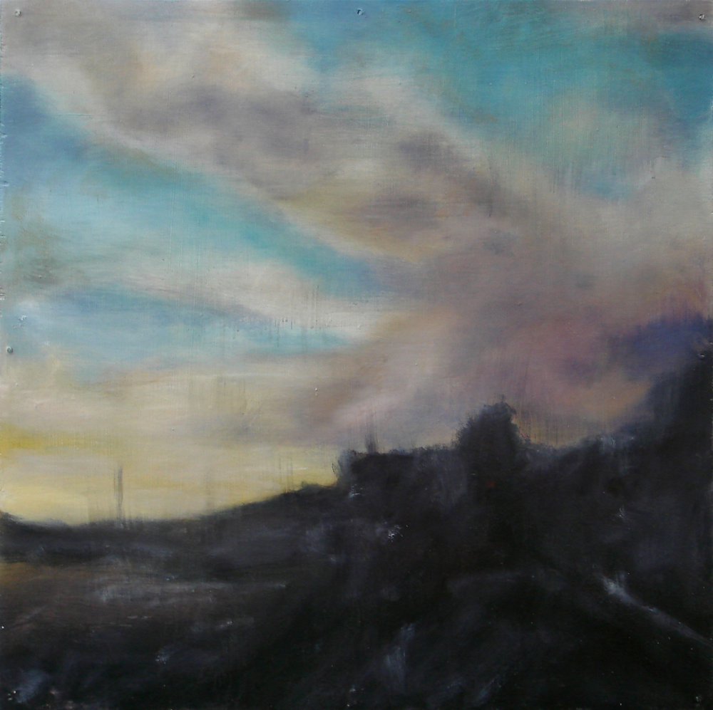 """A Familial Gaze II""  oil on wood panel  16"" x 16""  2010"