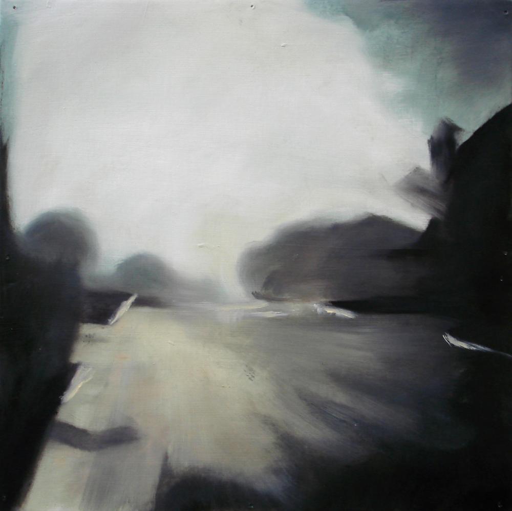 """A Familial Gaze III""  oil on wood panel  16"" x 16""  2010"