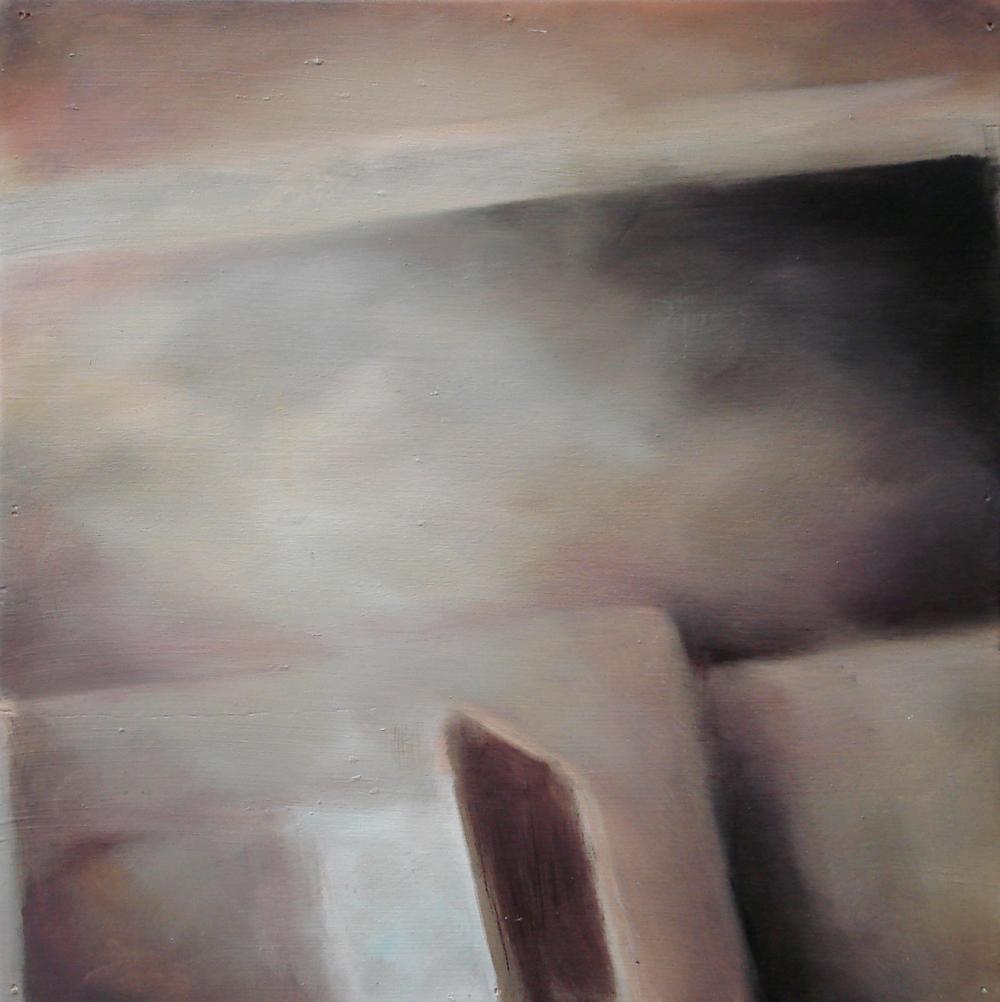 """A Familial Gaze VI""  oil on wood panel  16"" x 16""  2010"
