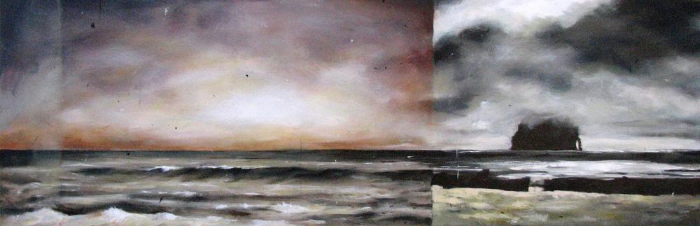 """Untitled""  acrylic on canvas  16"" x 48""  2010"