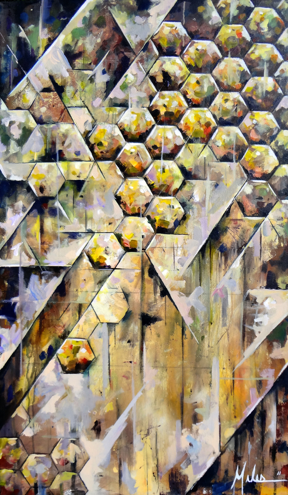 """Colony Collapse""  acrylic on canvas  54"" x 32""  2011"