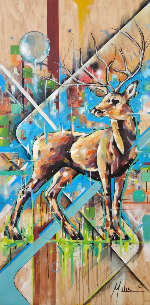 """""""Equilibrium""""  acrylic on wood panel  48"""" x 96""""  2012  $2600"""