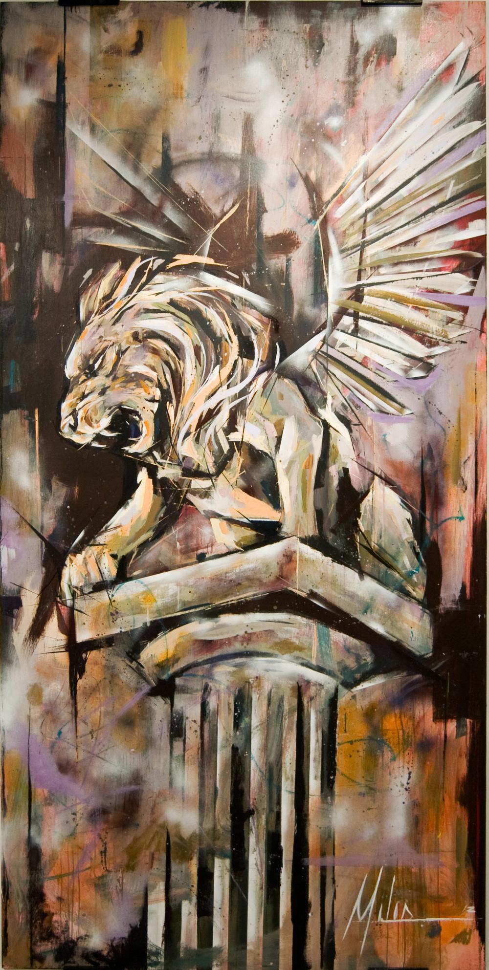 """The Gateway""  acrylic on wood panel  48"" x 96""  2012  $2400"