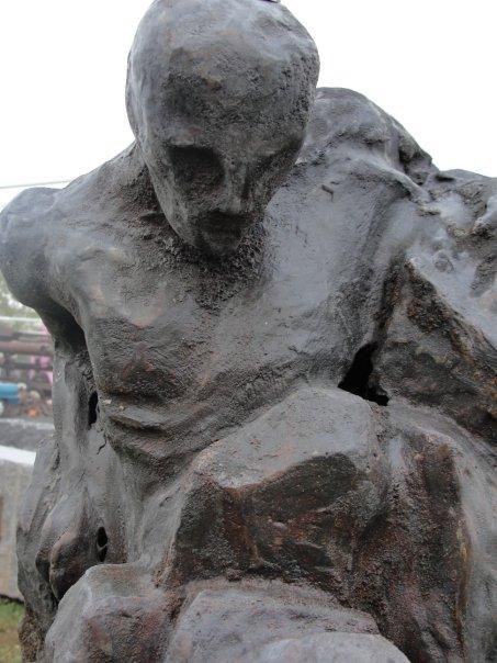 """Emergence"" (detail)  cast iron  2008"