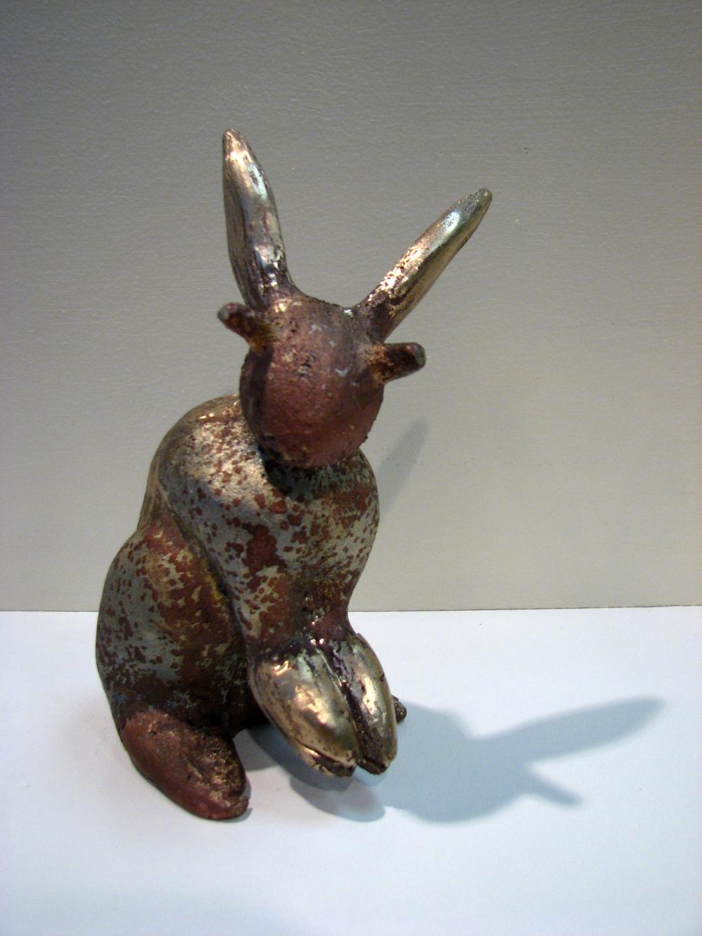 """Crabbit""  cast bronze  9' x 4"" x 4""  2008"