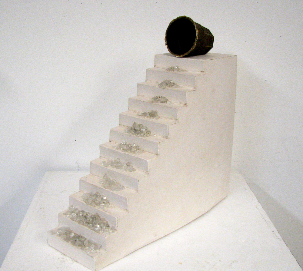 """The Only Requirement""  cast bronze, glass, and plaster  18"" x 6"" x 20""  2009"