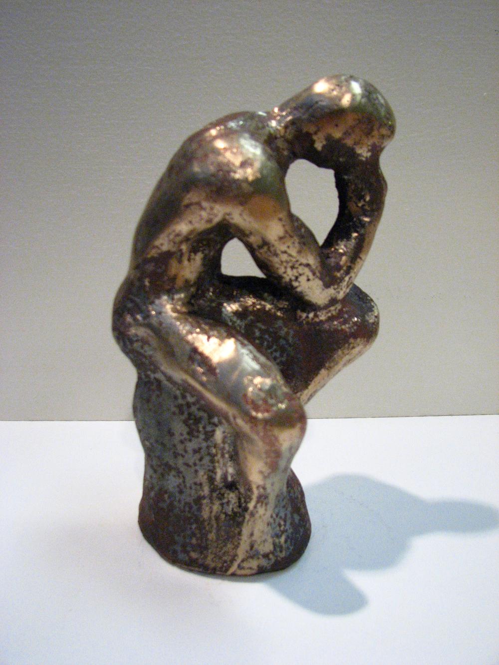 """Thinker""  cast bronze  9' x 4"" x 4""  2008"
