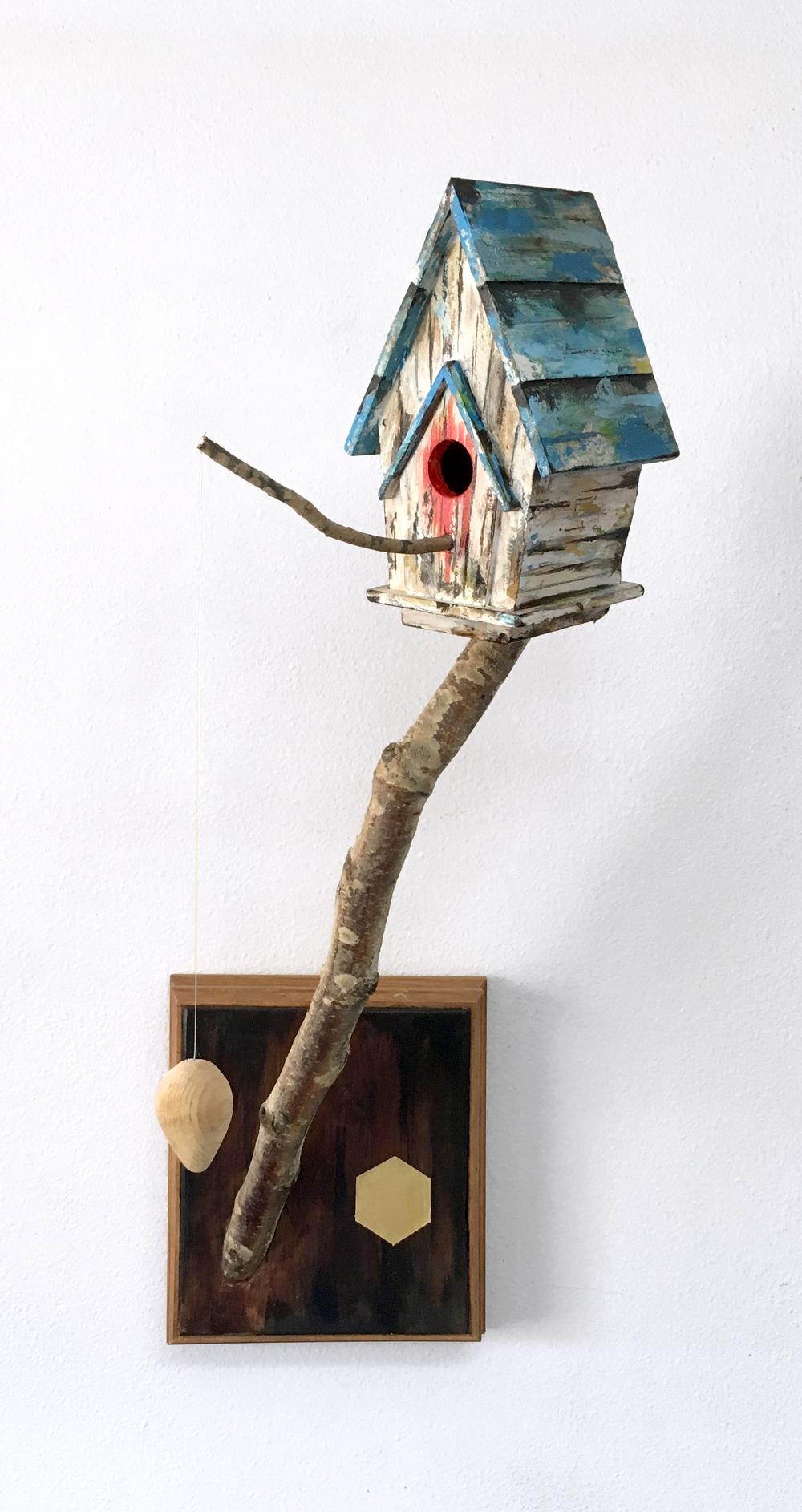 """""""Sanctuary IV""""  acrylic, wood  2015"""