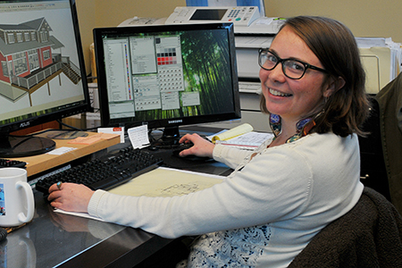 "Brenda Zirkelbach, Architect in Training Brenda joined the team here at Haven in 2014 and has since become an integral part of our staff. Brenda has a passion for the outdoors and has ""always loved the rain"" which should only help her as she continues to acclimate to her new NW Wa lifestyle! Brenda is a highly skilled Technician who will make an exceptionally talented architect."