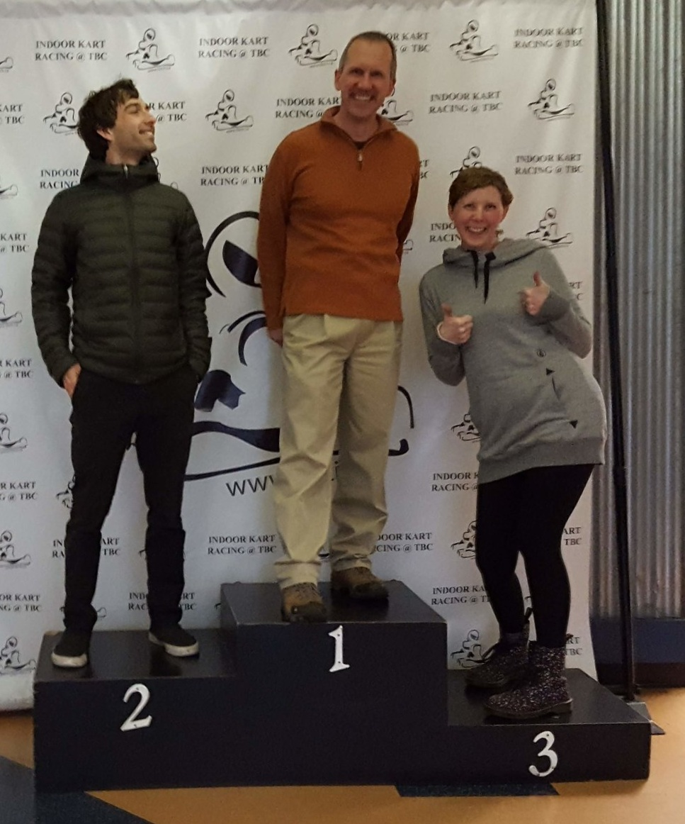 "Brenda took this photo because there's not a ""4"" spot on the podium"