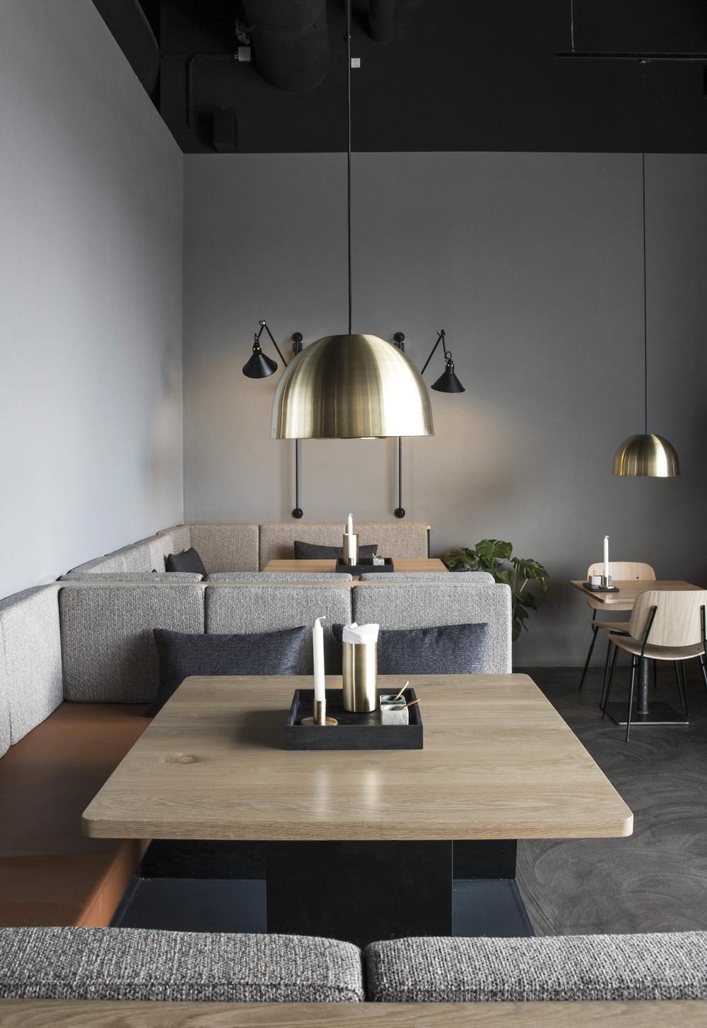 Interior design of Palæo restaurant in Copenhagen designed by Johannes Torpe Studios