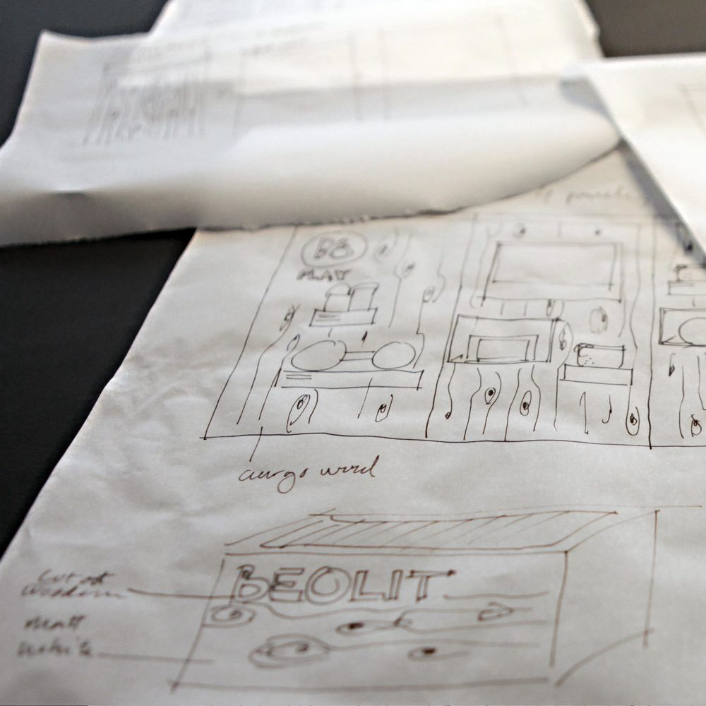 Drawings for the B&O Play retail design