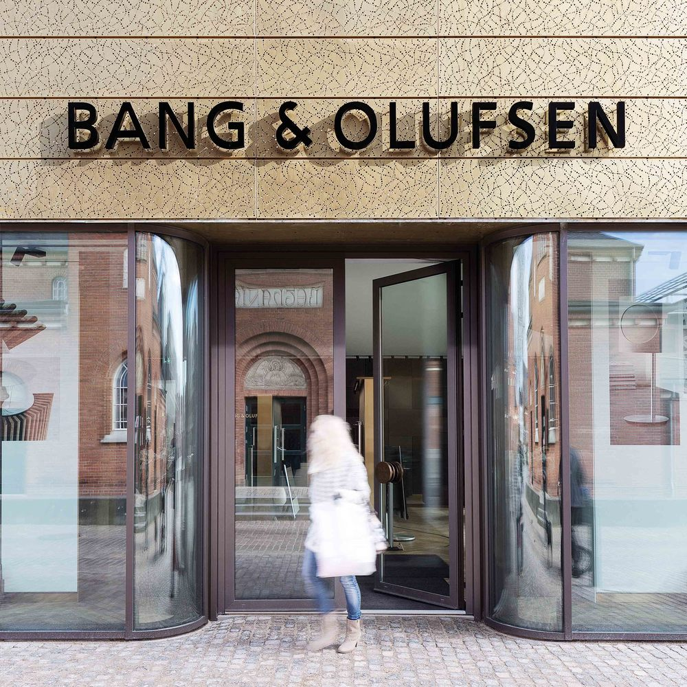 Main entrance to B&O store in the Nexus building in Herning, Denmark