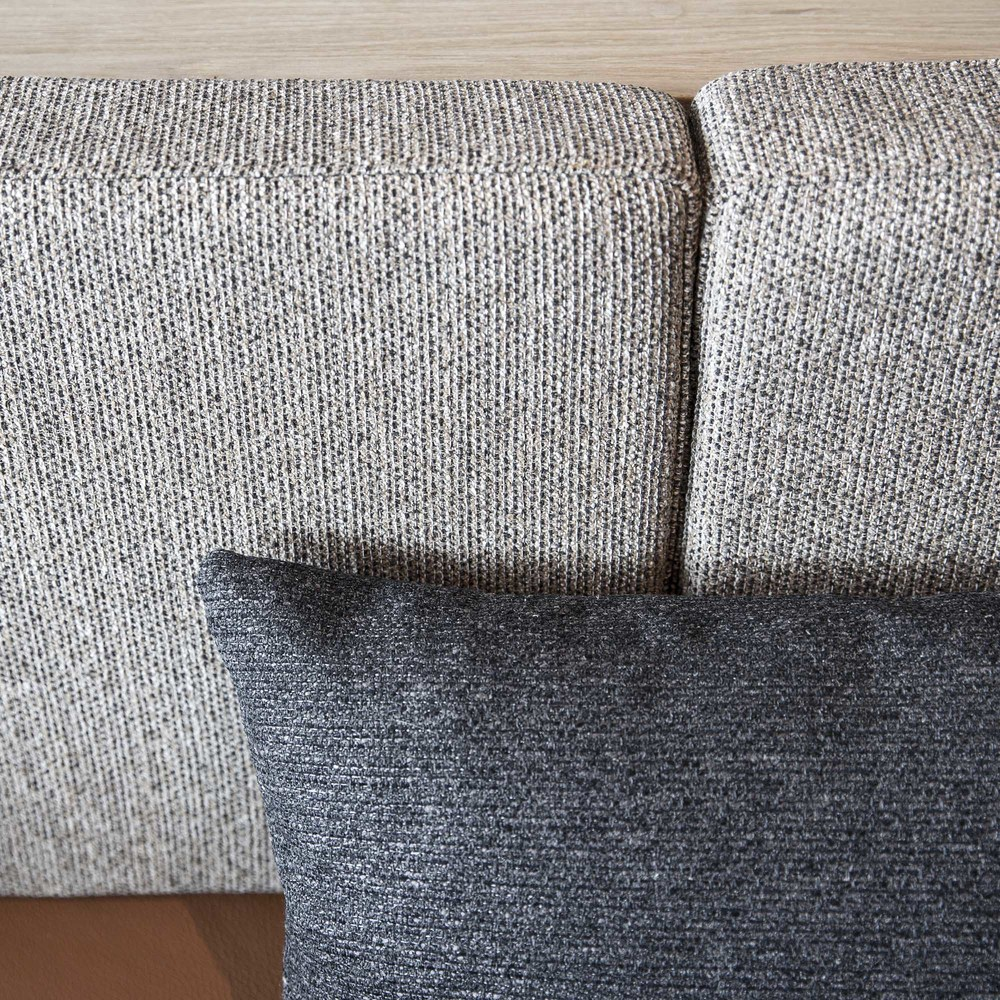 Detail of the fabrics used in the bespoke furniture at Palæo restaurants