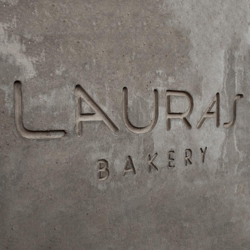 Branding concept including logo designed for Lauras bakery