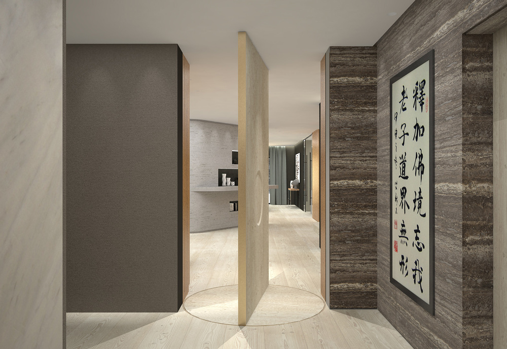Door design for Villa Zhao inspired by Chinese and Scandinavian culture