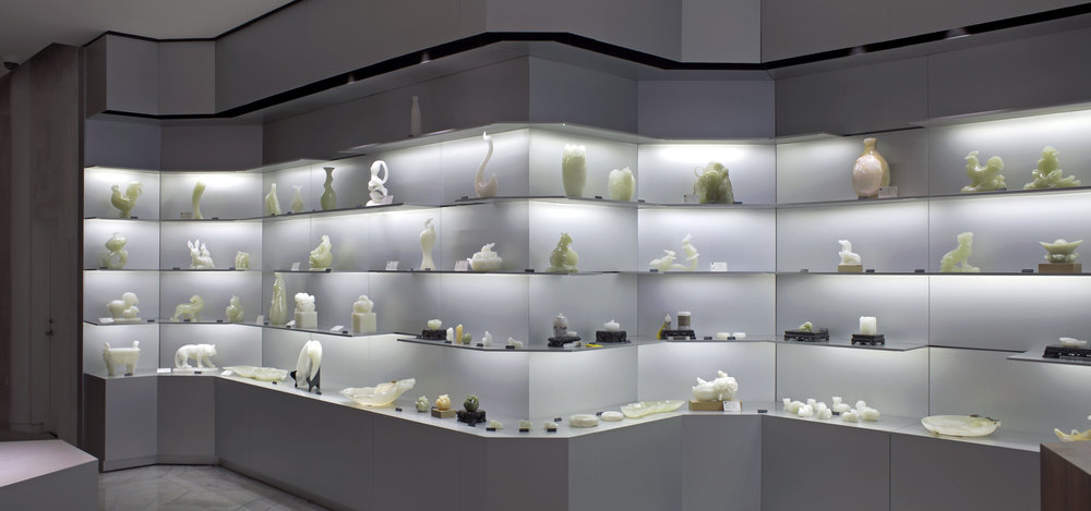 Onyx sculptures exhibited at the Skyword Showroom in Shanghai in China