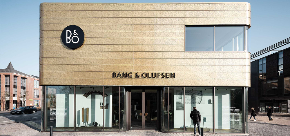 Bang & Olufsen store at Nexus house of Sound & Vision in Herning, Denmark designed by interior design agency Johannes Torpe Studios