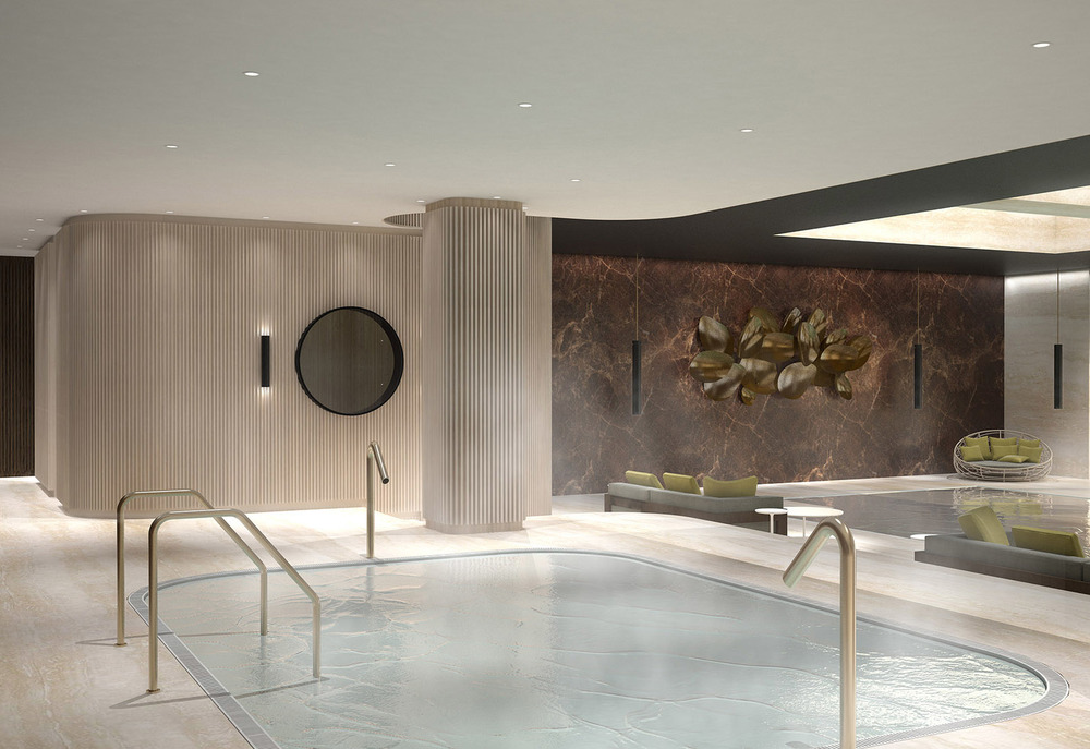 Luxury spa designed for Villa Zhao