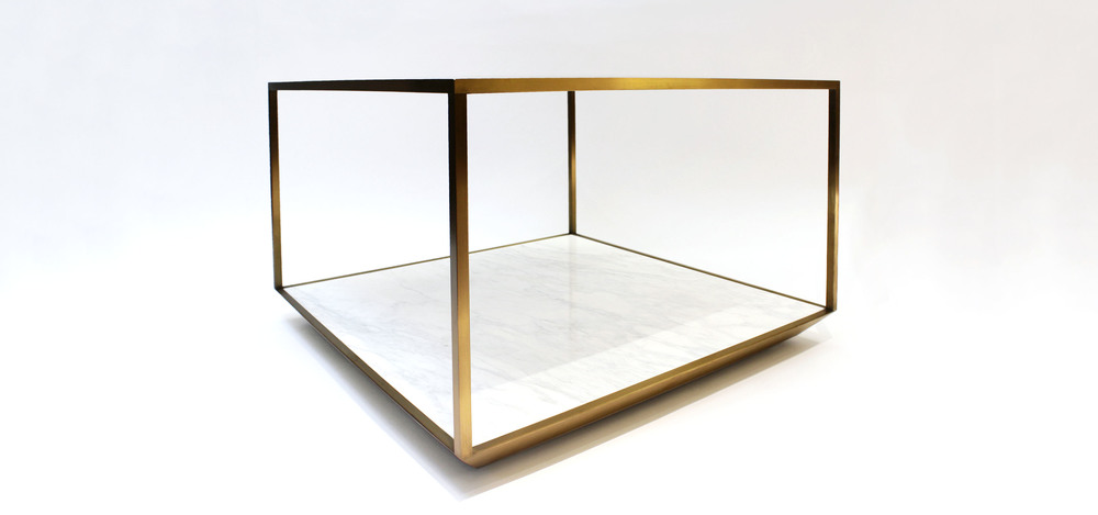 Furniture design of the Cubic Table done for Bang & Olufsen global retail stores
