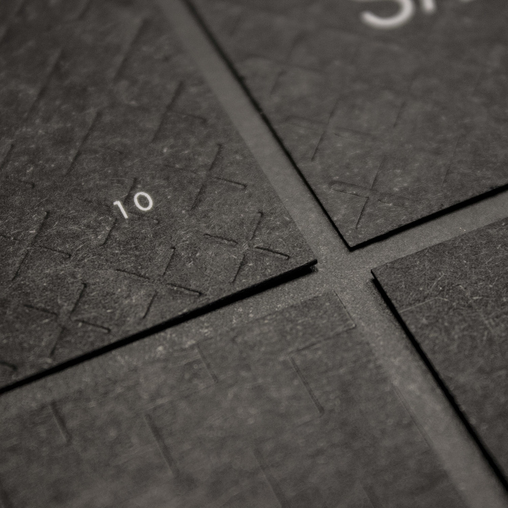 Detail of the Palæo loyalty cards.