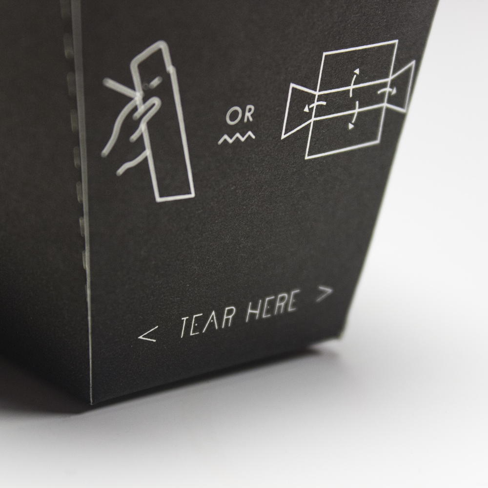 Operating instructions on packaging design for Palæo wrap