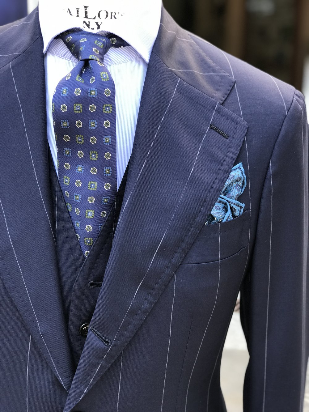 pinstripe made to measure suit by amarcord