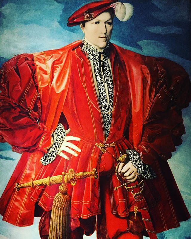 16th century #superhero #fashion at Hampton Court Palace
