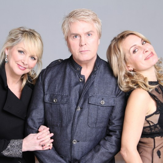 Cheryl, Mike and Jay (of Bucks Fizz)